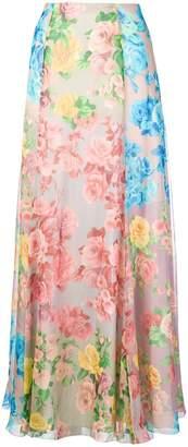 Blumarine floral printed skirt