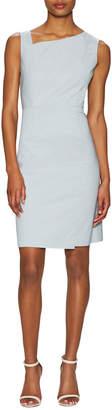Ava & Aiden Cotton Asymmetric Sheath Dress