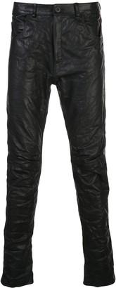 Poème Bohémien leather skinny fit trousers