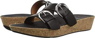 FitFlop Women's Duo-Buckle Slide Sandals-Leather