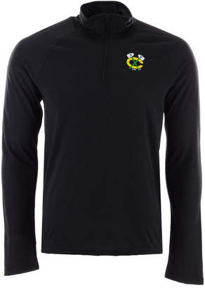 adidas Men's Chicago Blackhawks Secondary Logo Climatelite Quarter-Zip Pullover