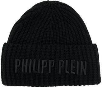 Philipp Plein logo beanie hat