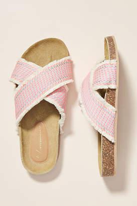 Anthropologie Callie Criss Cross Slide Sandals