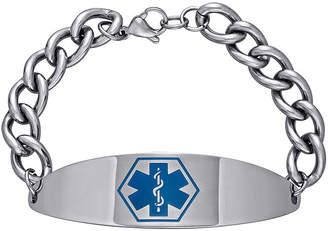 JCPenney FINE JEWELRY Stainless Steel Personalized Medical ID Bracelet