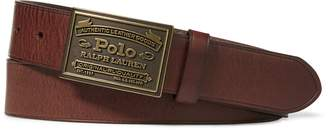 Ralph Lauren Polo Metal Plaque Buckle Belt