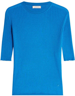 Nina Ricci Ribbed Cashmere Pullover with Silk