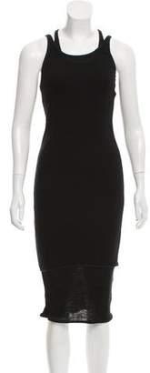 Acne Studios Rib Knit Midi Dress