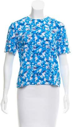 Tanya Taylor Abstract Keyhole-Accented Top