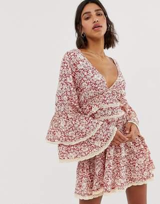 Free People Kristall floral print ruffle dress