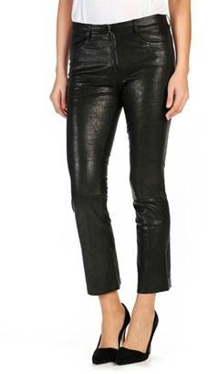Women's Paige Carine Leather Pants $1,075 thestylecure.com