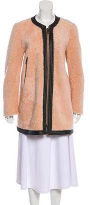 Chloé Leather-Trimmed Shearling Coat