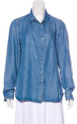 L'Agence Denim Button-Up Top