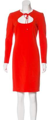 Emilio Pucci Virgin Wool Cutout Knee-Length Dress w/ Tags
