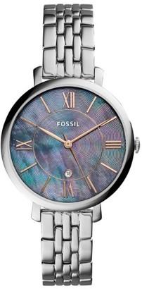 Women's Fossil Jacqueline Bracelet Watch, 36Mm $125 thestylecure.com