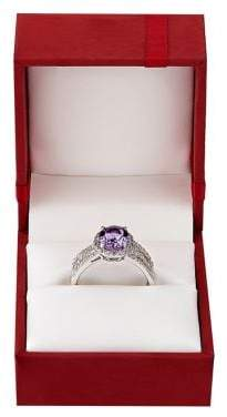 Lord & Taylor Amethyst, White Topaz and Sterling Silver Ring