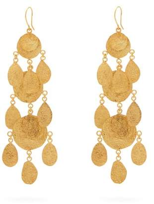 Pippa Small Turquoise Mountain - Mahsa 18kt Gold Plated Drop Earrings - Womens - Gold