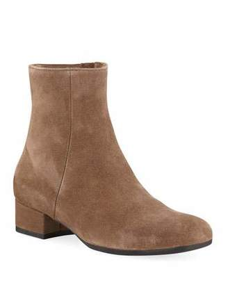 La Canadienne Jillian Suede Low Chunky-Heel Booties