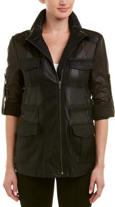 BCBGMAXAZRIA Bronnen Perforated Jacket