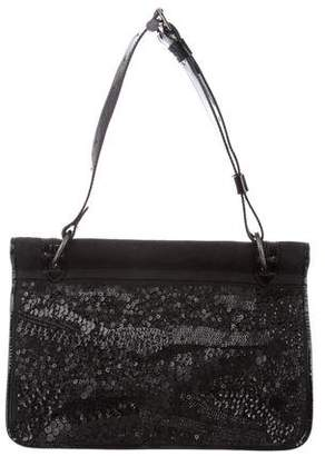 Dries Van Noten Sequin-Paneled Canvas Bag