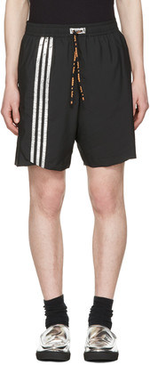 Adidas x Kolor Black Track Shorts $175 thestylecure.com