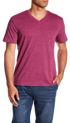 Public Opinion Micro Stripe V-Neck Tee
