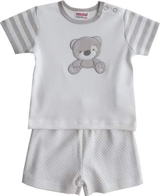 BEIGE Schnizler Boy's Interlock Teddybar Gestreift 2-TLG. Set Langarmshirt Clothing Original 900) 46
