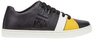 Fendi colourblock low tops