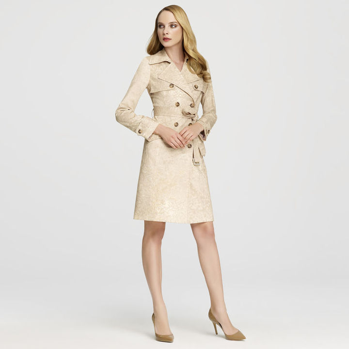Anne Klein Tonal Cameo Trench Coat