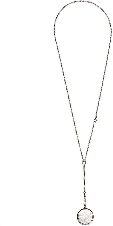Ann DemeulemeesterAnn Demeulemeester pearl filled pendant necklace
