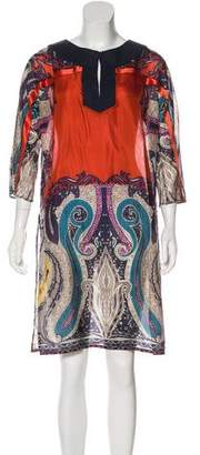 Etro Silk Knee-Length Dress
