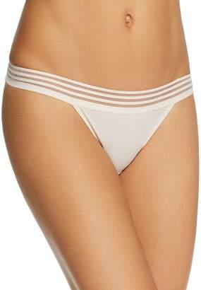 Heidi Klum Intimates Striped Elastic & Papertouch Mesh Bikini