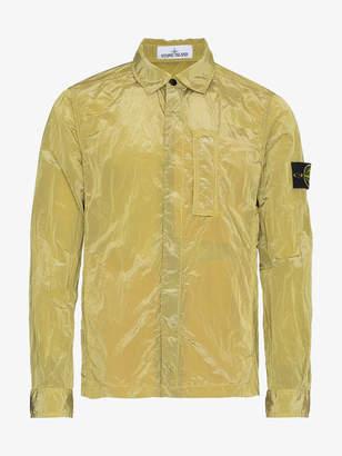 Stone Island Yellow Nylon Metal Over-shirt