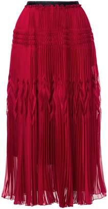 Aula high-waisted pleated skirt