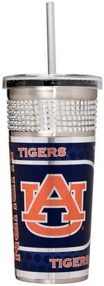 Auburn Tigers Bling Stainless Steel Straw Tumbler