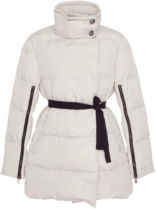 Schumacher Dorothee Belted Zip-Detailed Quilted-Shell Jacket