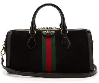 Gucci Ophidia Boston Suede Bowling Bag - Womens - Black