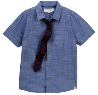Sovereign Code Shirt & Tie Set (Toddler & Little Boys)