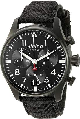 Alpina Men's AL-372B4FBS6 Startimer Pilot Chronograph Big Date Analog Display Swiss Quartz Watch