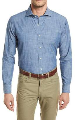 Peter Millar Summer Chambray Woven Denim Shirt