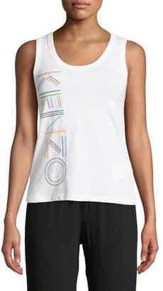Kenzo Sporty Scoop-Neck Logo Tank Top