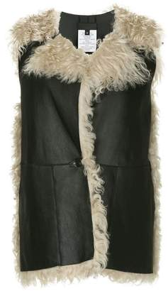 Zero Maria Cornejo leather and shearling gilet