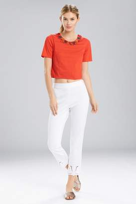 Natori Breeze T-Shirt Top With Beading