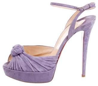 Christian Louboutin Platform Suede Sandals