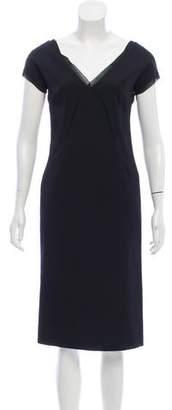 Anna Molinari V-Neck Midi Dress
