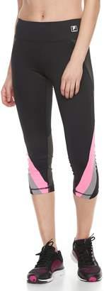 Fila Sport Women's SPORT Multi Mesh Inset Capri Leggings