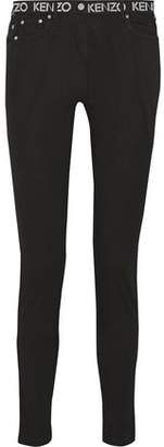 Kenzo Printed Mid-Rise Skinny Jeans