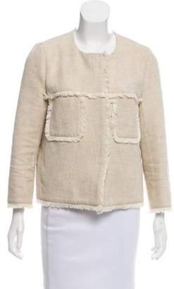 Gerard Darel Collarless Tweed Jacket