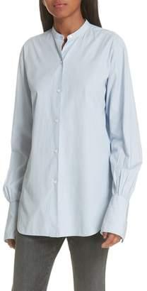 Nili Lotan Faye Stripe Cotton Shirt