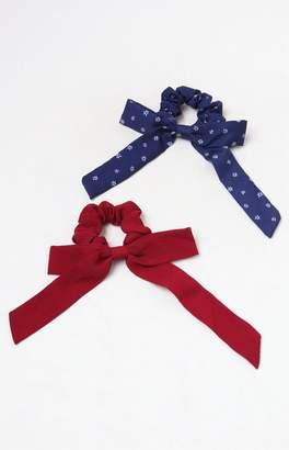 LA Hearts Navy Tie Scrunchie 2-Pack