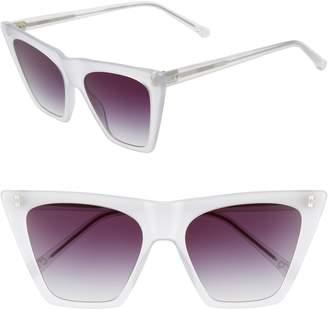 Colors In Optics Metropolian 55mm Flat Top Sunglasses